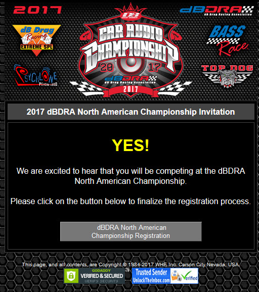 dBDRA North American Championship Registration