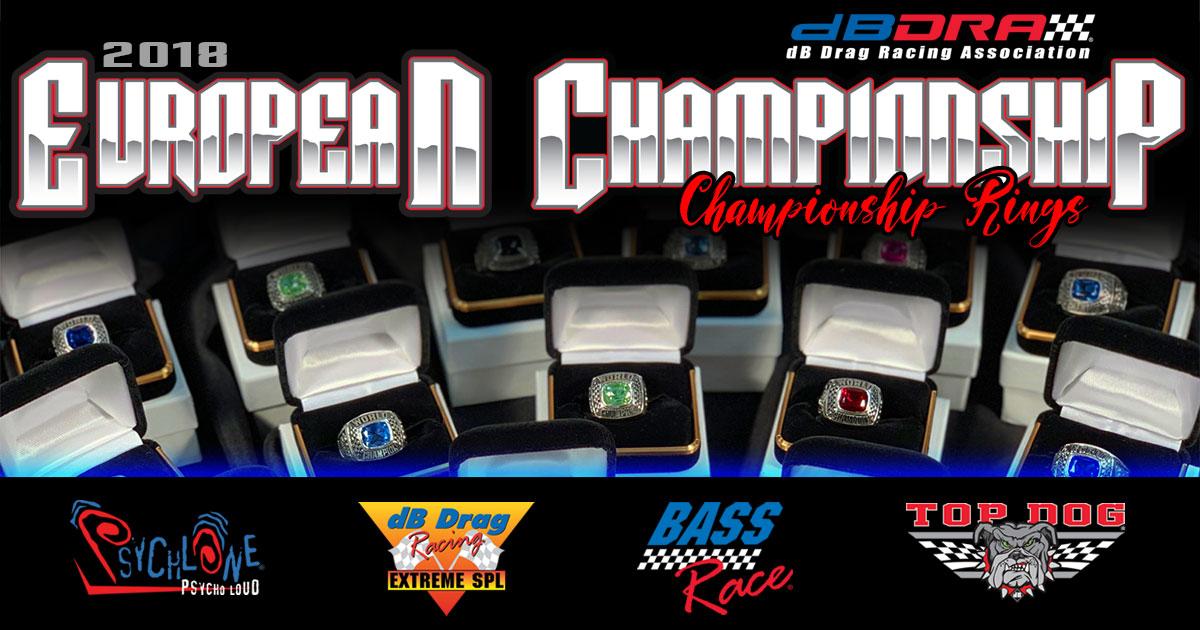 2018 dBDRA European Championship Rings
