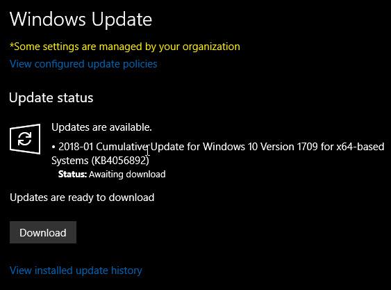 Windows Update Status